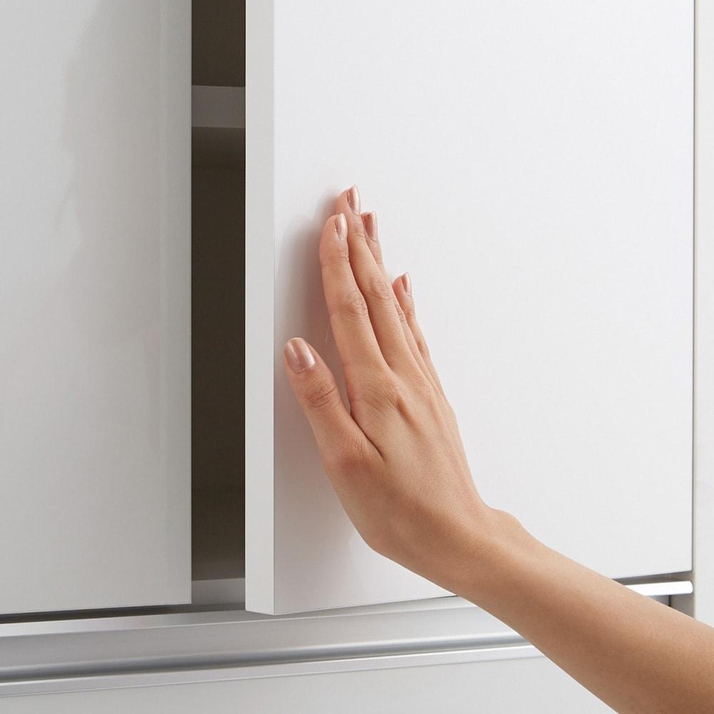 Ymir/ユミル 隠せるストッカー 幅30奥行45cm 上部の扉はプッシュ式で、開閉簡単。