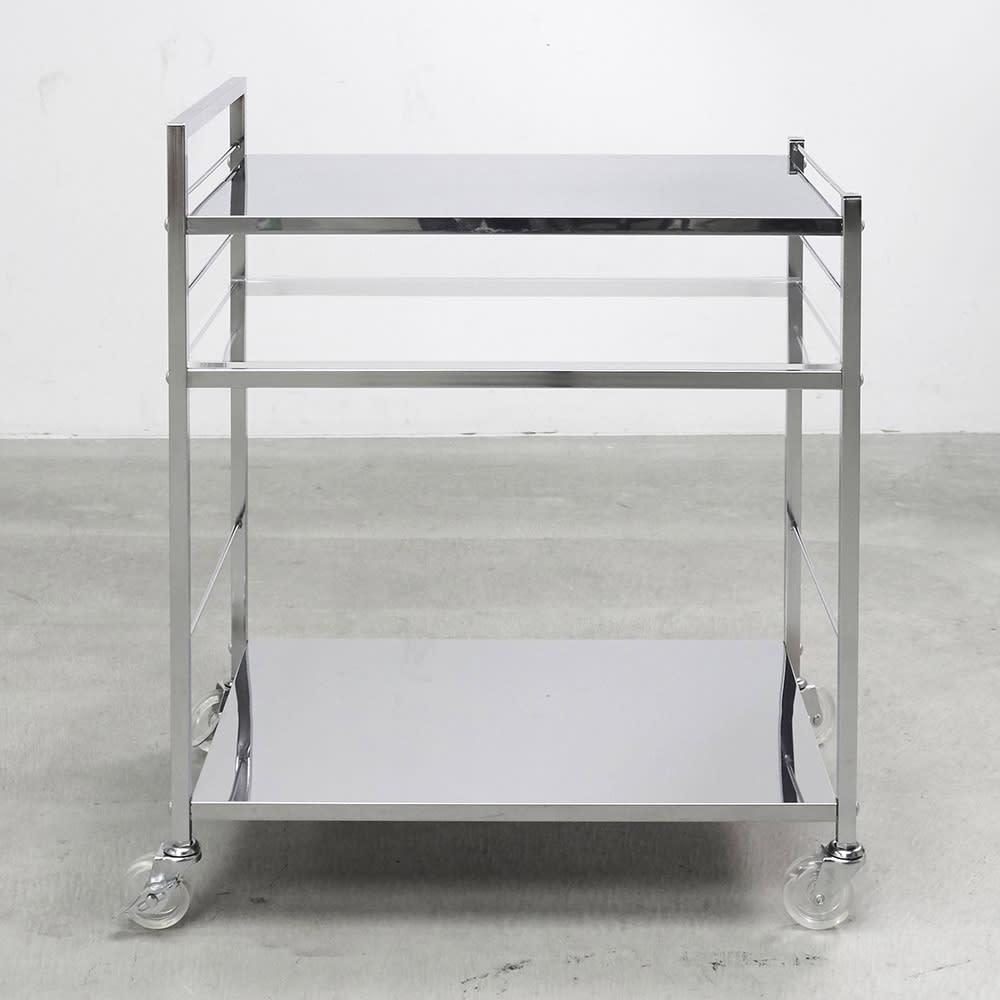 ステンレス製キッチンワゴン 幅43.5cm