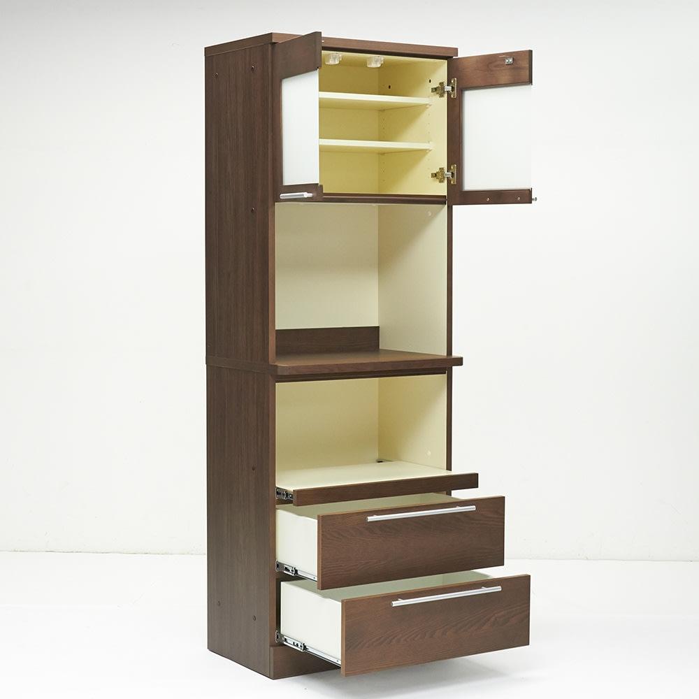 NexII ネックス2 天然木キッチン収納  レンジラック 幅70cm