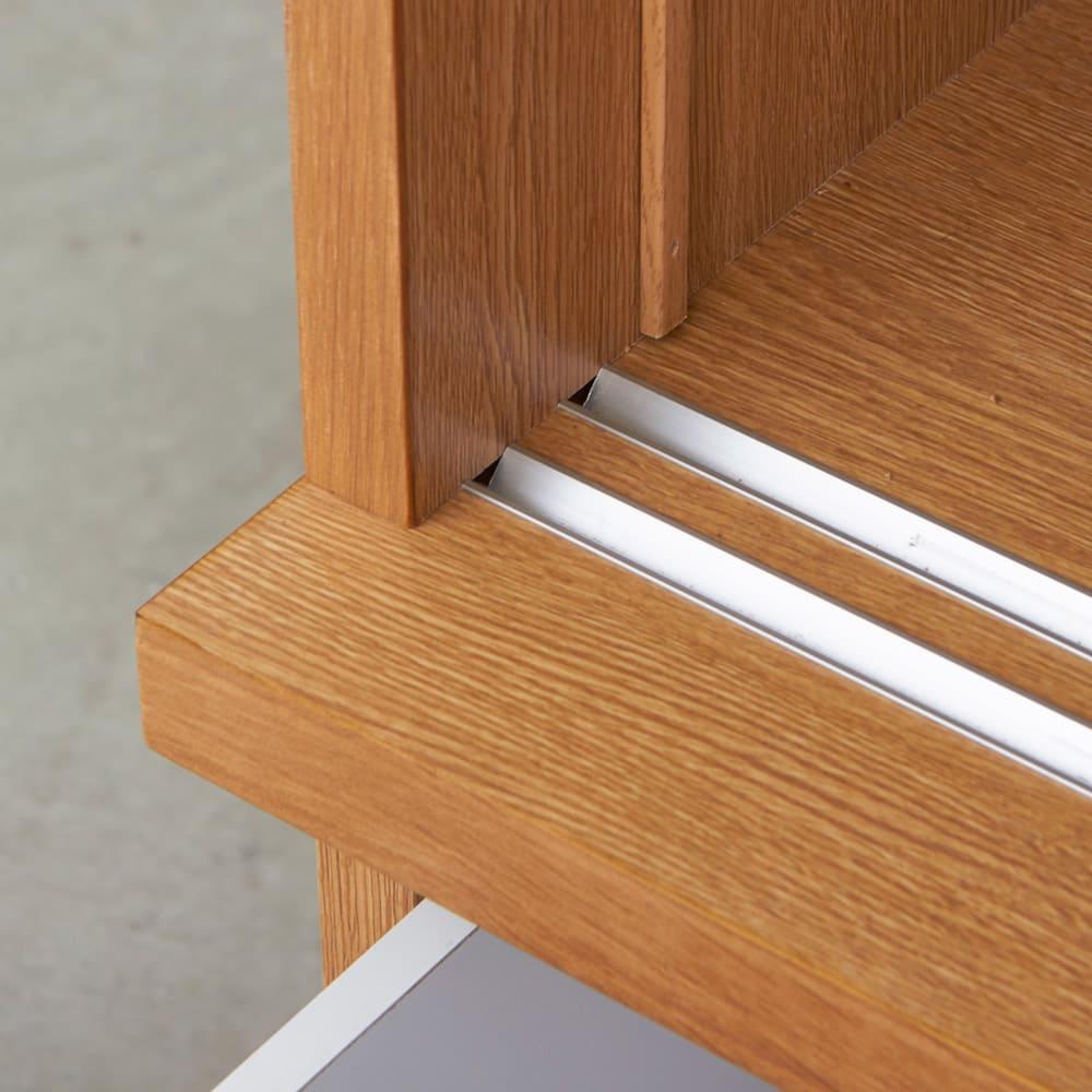Elno/エルノ スライドボード・引き戸食器棚 幅90cm オーク柄
