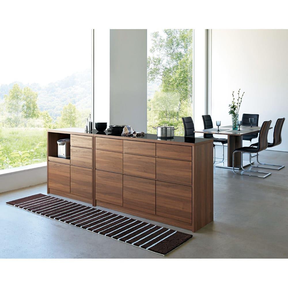 Granite/グラニト アイランド間仕切りキッチンカウンター幅140cm 引き出しタイプ お届けの商品はこちらの幅140引き出しタイプです。