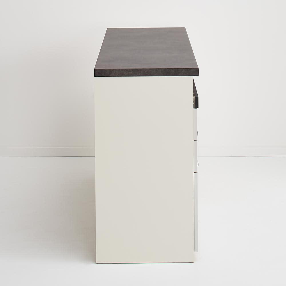 Boulder/ボルダー 石目調天板キッチンシリーズ カウンター 幅140cm 奥行50cm 側面
