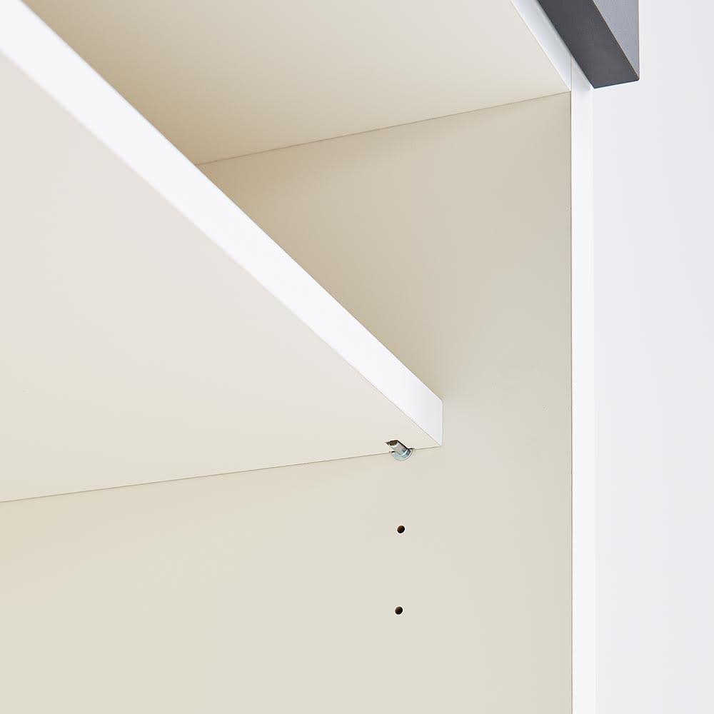 Boulder/ボルダー 石目調天板キッチンシリーズ カウンター 幅140cm 奥行50cm 棚板は3cmピッチで高さ調節できます。