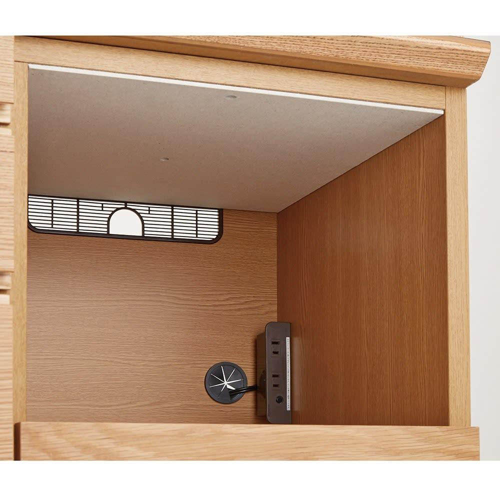 Lescordes/レコルデ キッチンボードシリーズ オープンボード 幅150cm 【モイスで湿気対策】家電収納部の天井には調湿素材を装備。