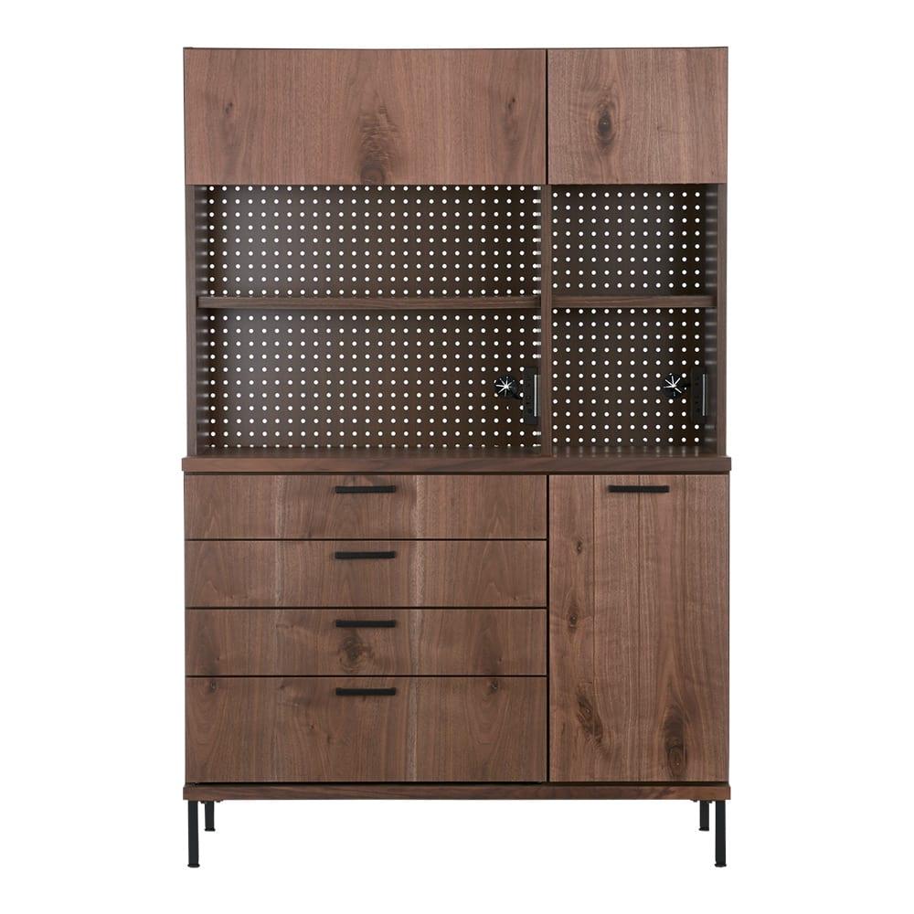 Bonno/ボノ キッチンボード・食器棚 幅120cm (イ)ブラウン