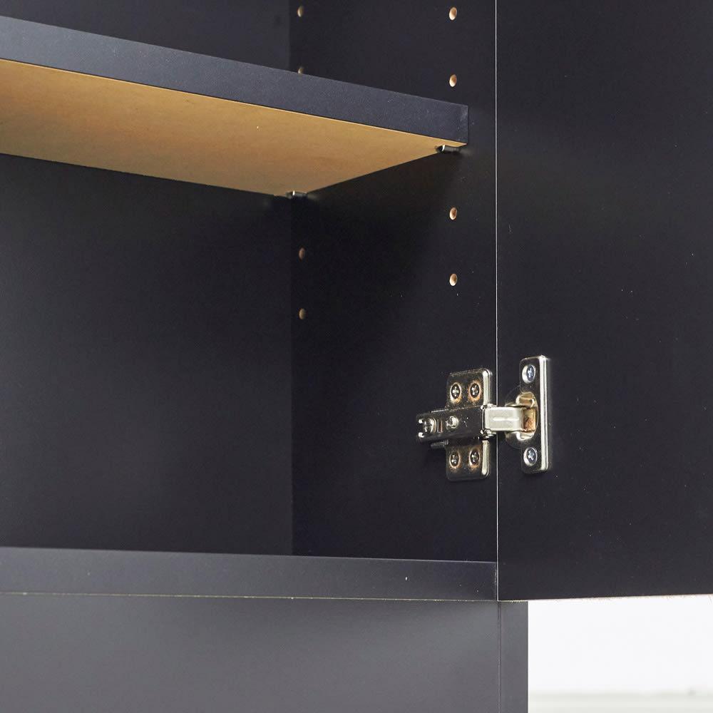 Rossi/ロッシ カウンター下収納庫 収納庫幅89.5奥行29.5cm 棚板は3cm間隔11段階で高さ調節が可能です