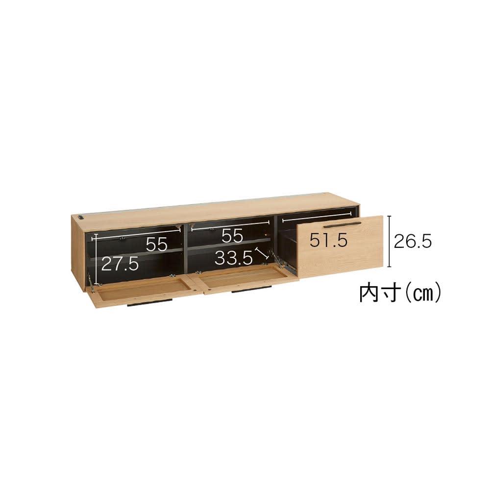 Glint/グリント LED照明付きテレビ台 幅180cm 大容量の収納スペースで、快適なAVライフをサポートします。
