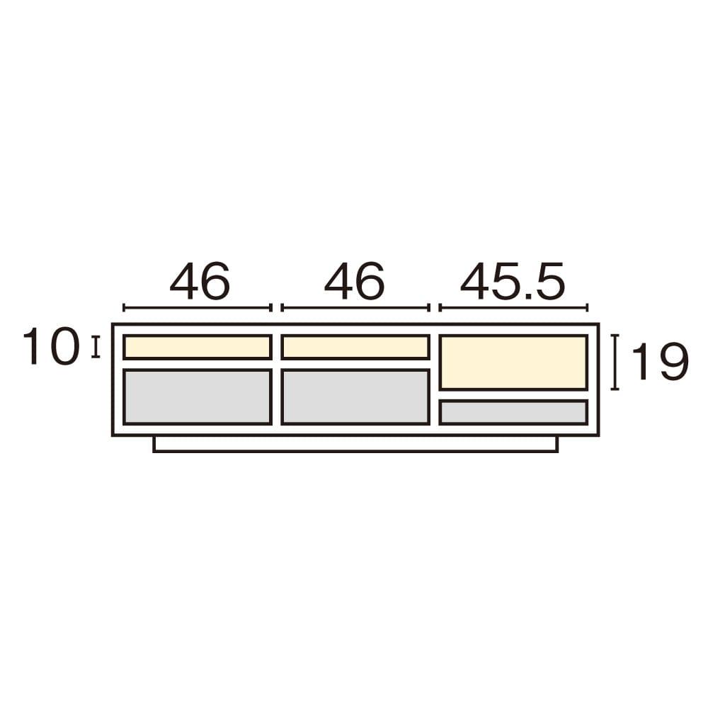 格子リビング収納 テレビボード 幅150.5cm 内寸図(cm)