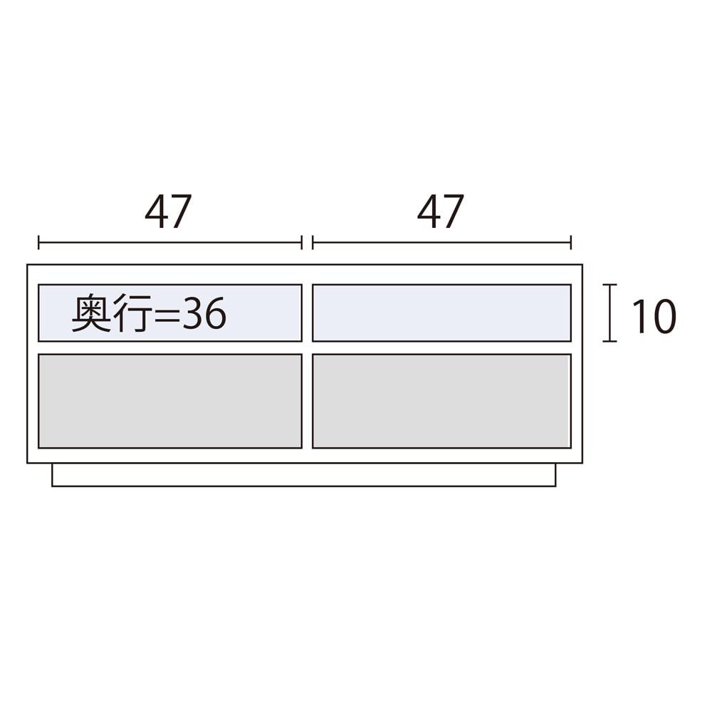 ウォルナット天然木テレビ台 幅100cm 内寸図(cm)