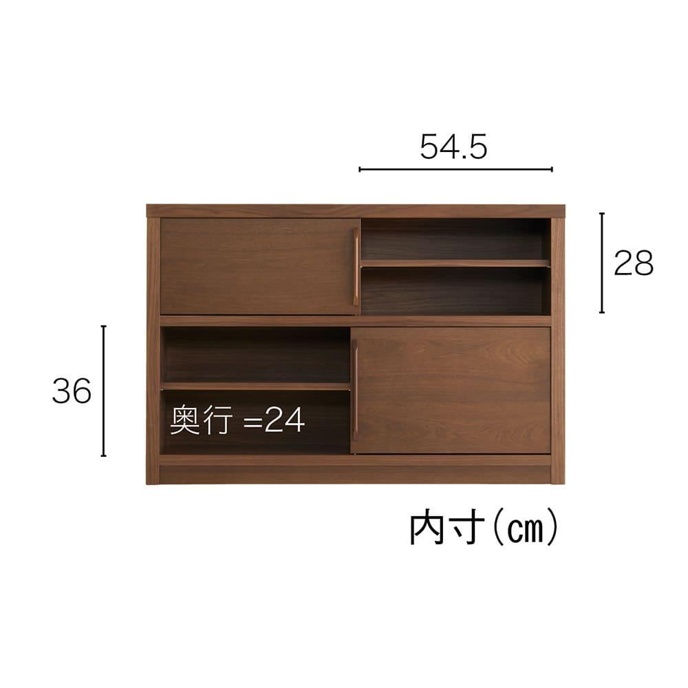 Arabelle/アラベル 薄型マルチキャビネット 幅120cm 内寸(単位:cm)