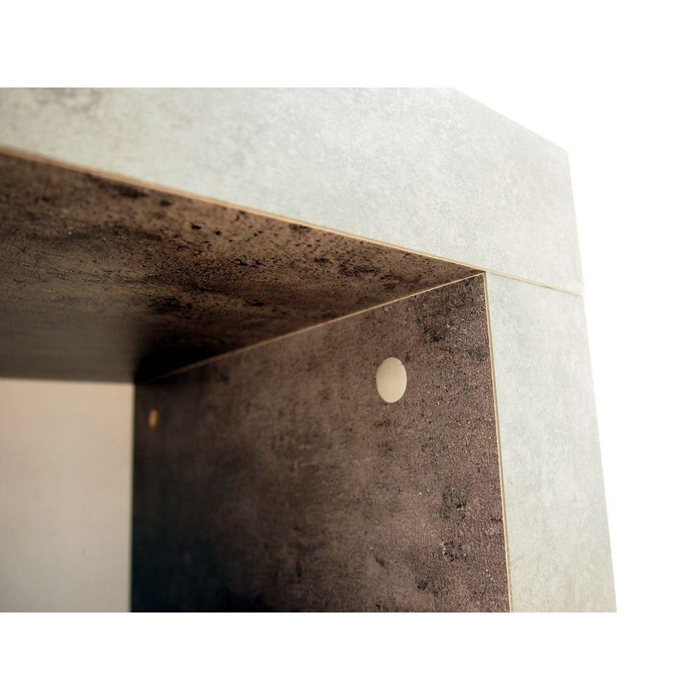 Detroit デトロイト ポルトガル製リビングキャビネット [temahome テマホーム] 天板と側板はカムロックでしっかり固定。カムロック隠しのキャップ付き