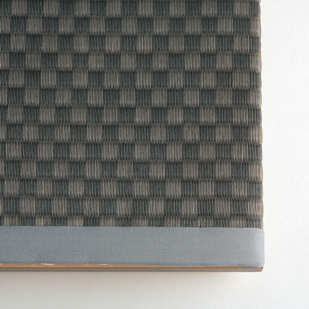 美草跳ね上げ式ユニット畳 畳単品 高さ45cm 大容量 ミニ半畳 大容量 [畳アップ] ブラック