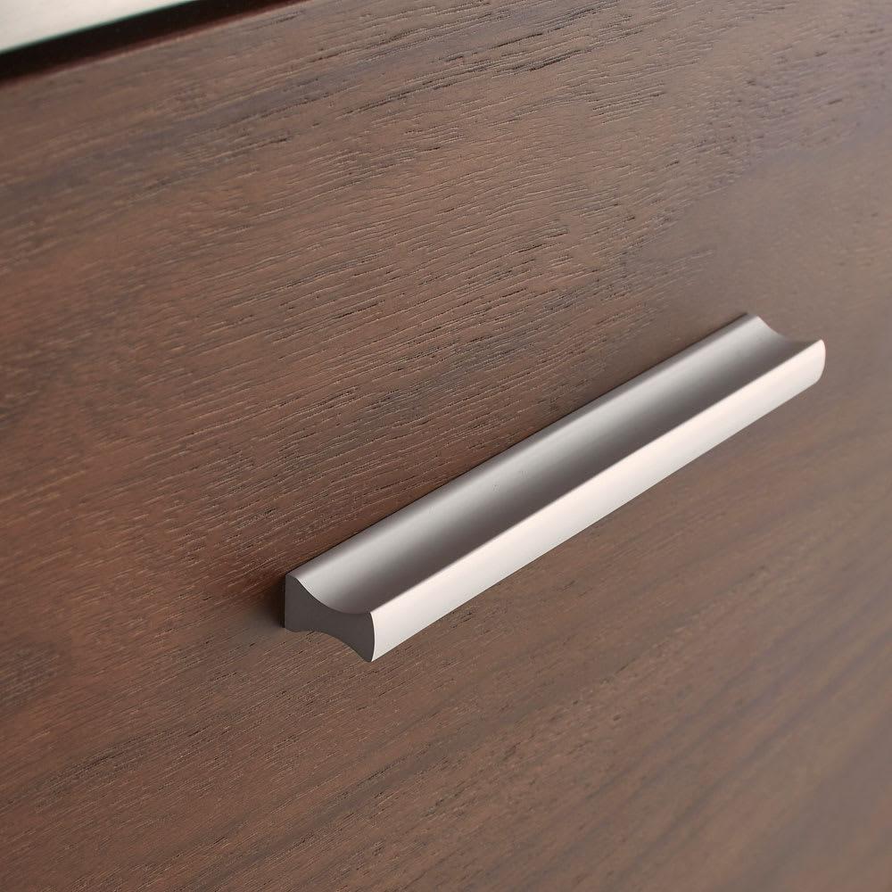 Glan Plus/グラン プラス デスクシリーズ キャビネット 幅80cm モダンなステンレスの取っ手がデザインのアクセント