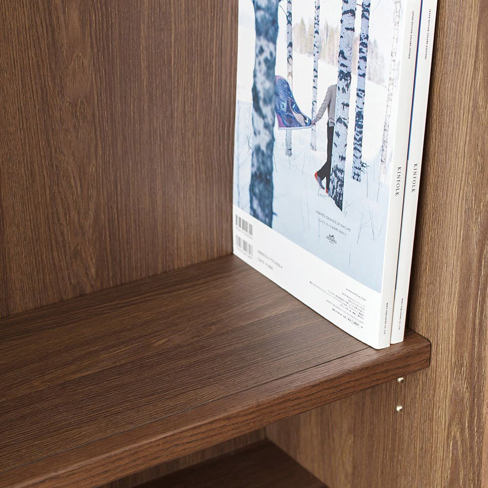 Winkel/ヴィンケル オーク天然木ななめ本棚 幅80cm・ロー 写真集や雑誌の収納に。(棚板内寸24cm)