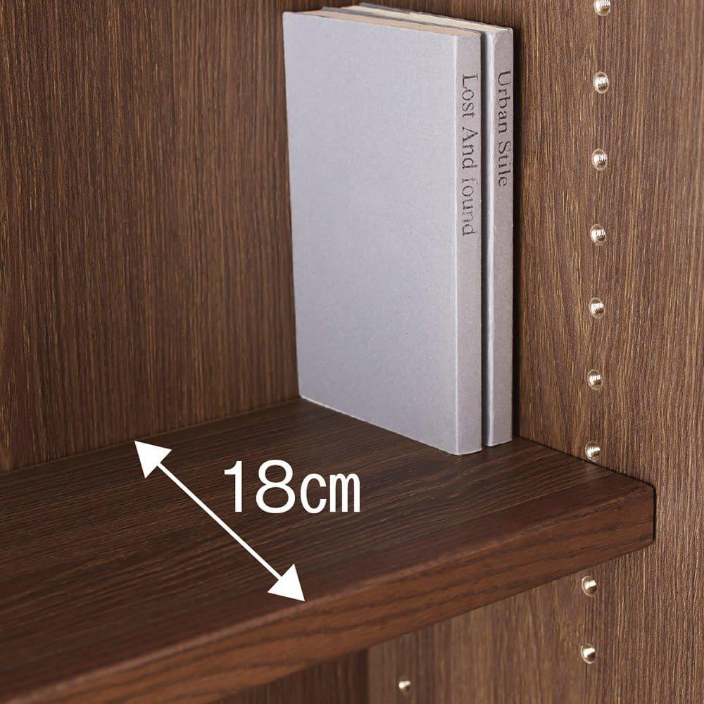 Winkel/ヴィンケル オーク天然木ななめ本棚 幅60cm・ハイ 上段は、単行本や文庫本に便利。(棚板内寸18cm)