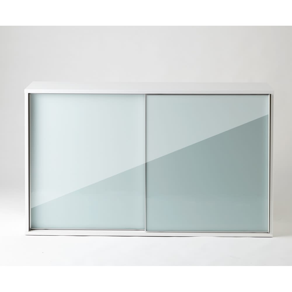 Evan(エヴァン) スライドシェルフ ロータイプ本棚 幅150cm 光沢が美しいモダンデザイン