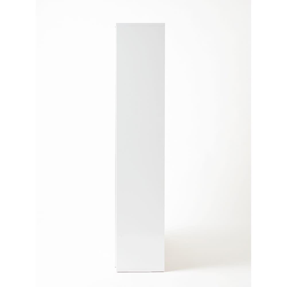 Evan(エヴァン) スライドシェルフ ハイタイプ本棚 幅90cm ア) ホワイト 側面