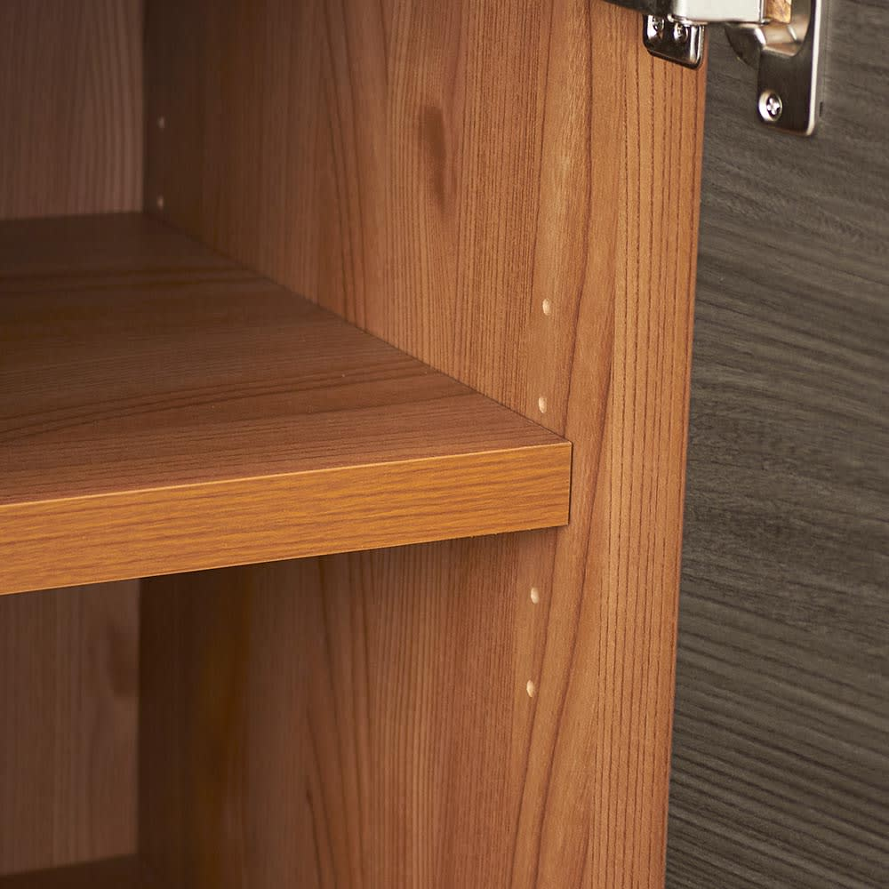 K'astani/カスターニ バイカラーコレクション本棚 高さサイズオーダー上置き 幅117.5cm高さ26cm~90cm 棚板は3cmピッチで調整できます。(高さ39cm以下は可動棚板はありません)