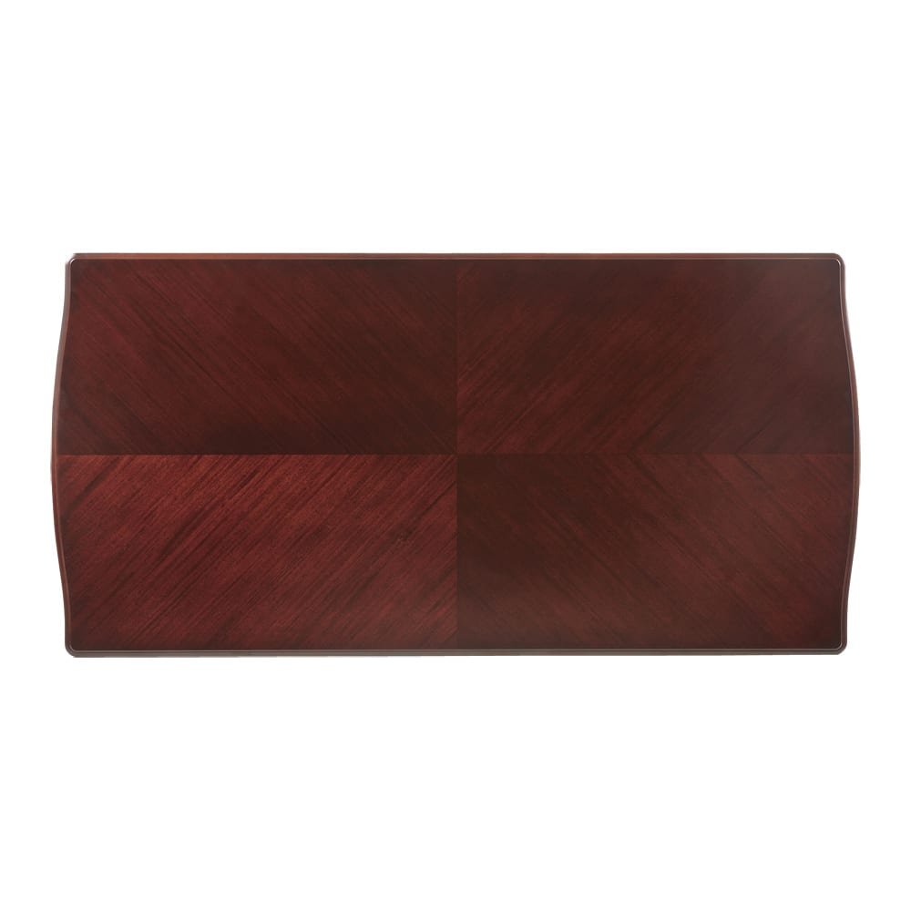 エレガントクラシックシリーズ ダイニングテーブル 幅180cm ダークブラウンの天板は確かな職人技が感じられる矢羽模様。