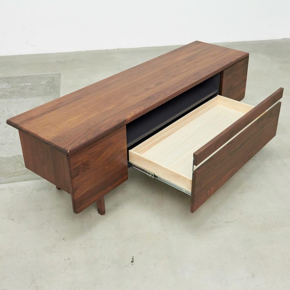 a tempo/アテンポ ウォルナット天然木 テレビボード・テレビ台 幅180cm