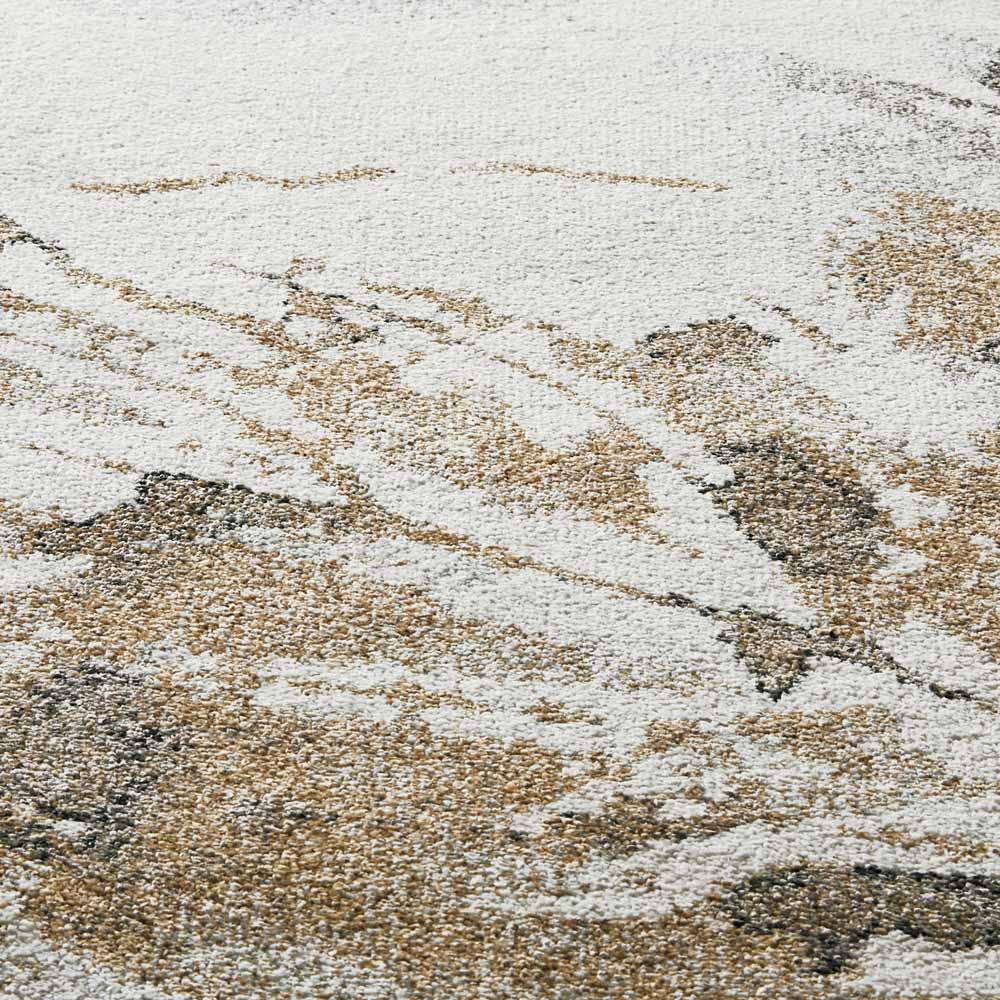 Leafy/リーフィー ウィルトン織ラグ (イ)ゴールドヒートセット加工を施しているので表面は滑らか、上質な光沢感のあるラグです。