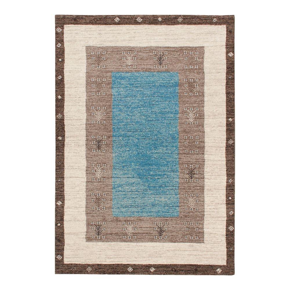 ベルギー製Vokko/ヴォッコ ウィルトン織マット ブルー