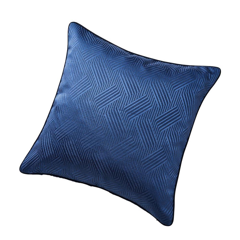 ホテル仕様スプレッド・フットスロー Plagea/プラージュア クッションカバー(1枚) 45×45cm用 (ア)クラシックブルー