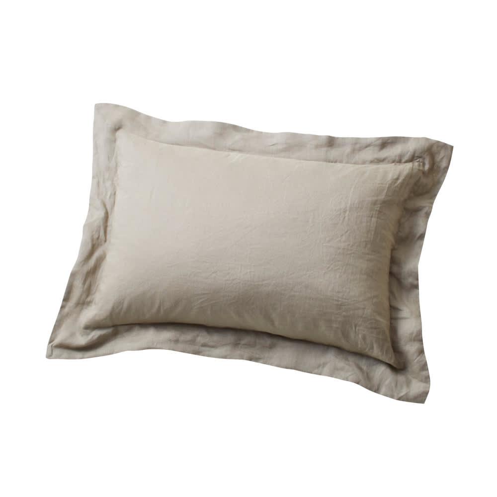 French Linen/フレンチリネン カバーリング ピローケース(同色2枚組) グレーベージュ(WEB限定)