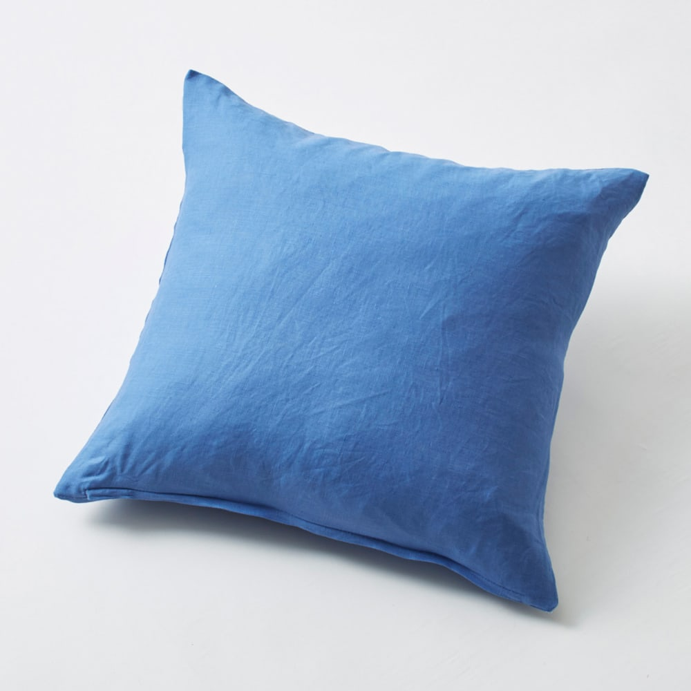 French Linen/フレンチリネン カバーリング クッションカバー(同色2枚組) ブルー(WEB限定)