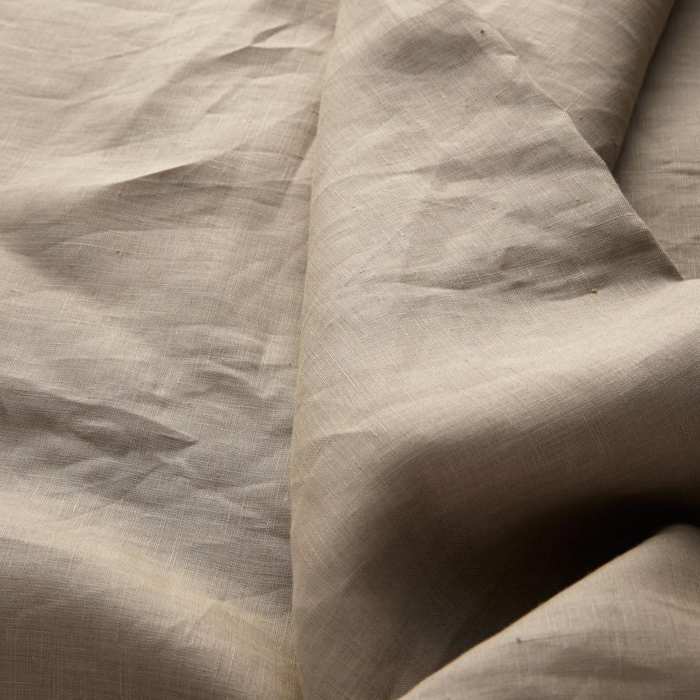 FrenchLinen/フレンチリネン100%  ベッドシーツ(フリルカバーリングシリーズ) [生地アップ]グレーベージュ(WEB限定)
