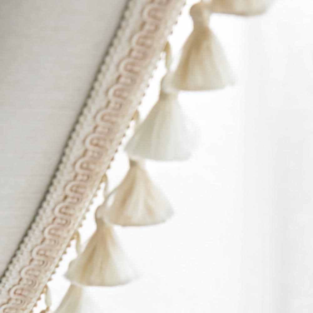 フリンジ付き遮光カーテン(2枚組)