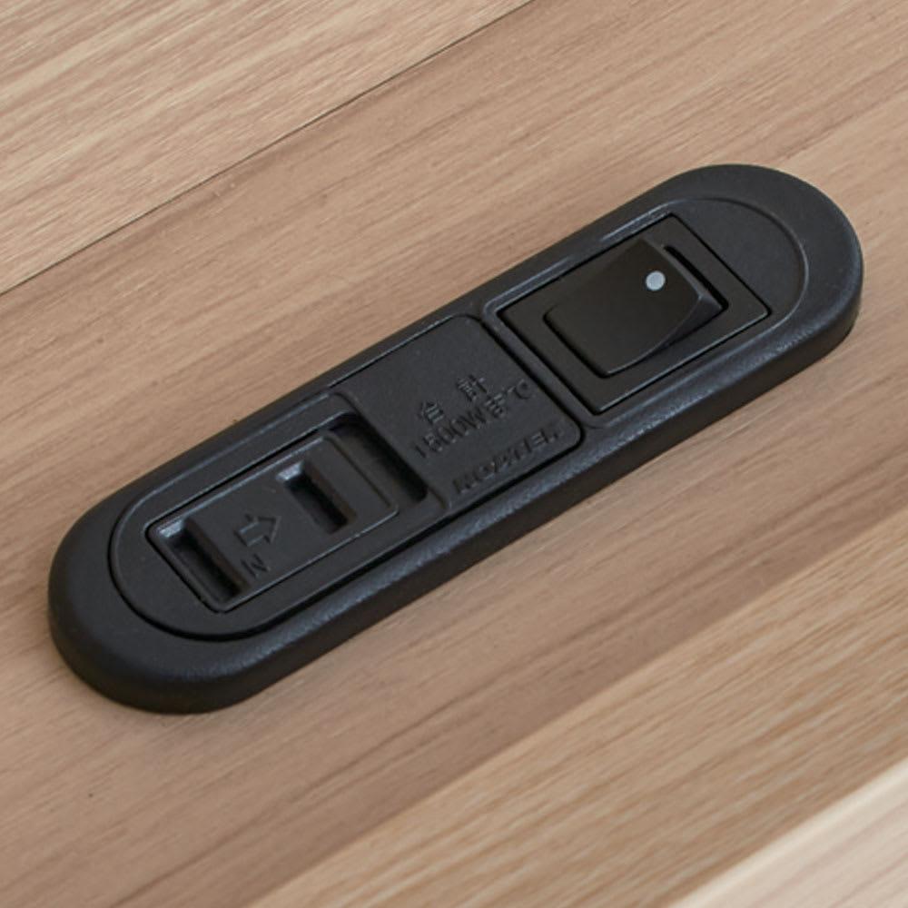 【配送料金込み 組立・設置サービス付き】SIMMONS/シモンズ シェルフLEDベッド 6.5インチピロートップ ヘッドボードのシェルフにコンセント(2口計1200W)付き。