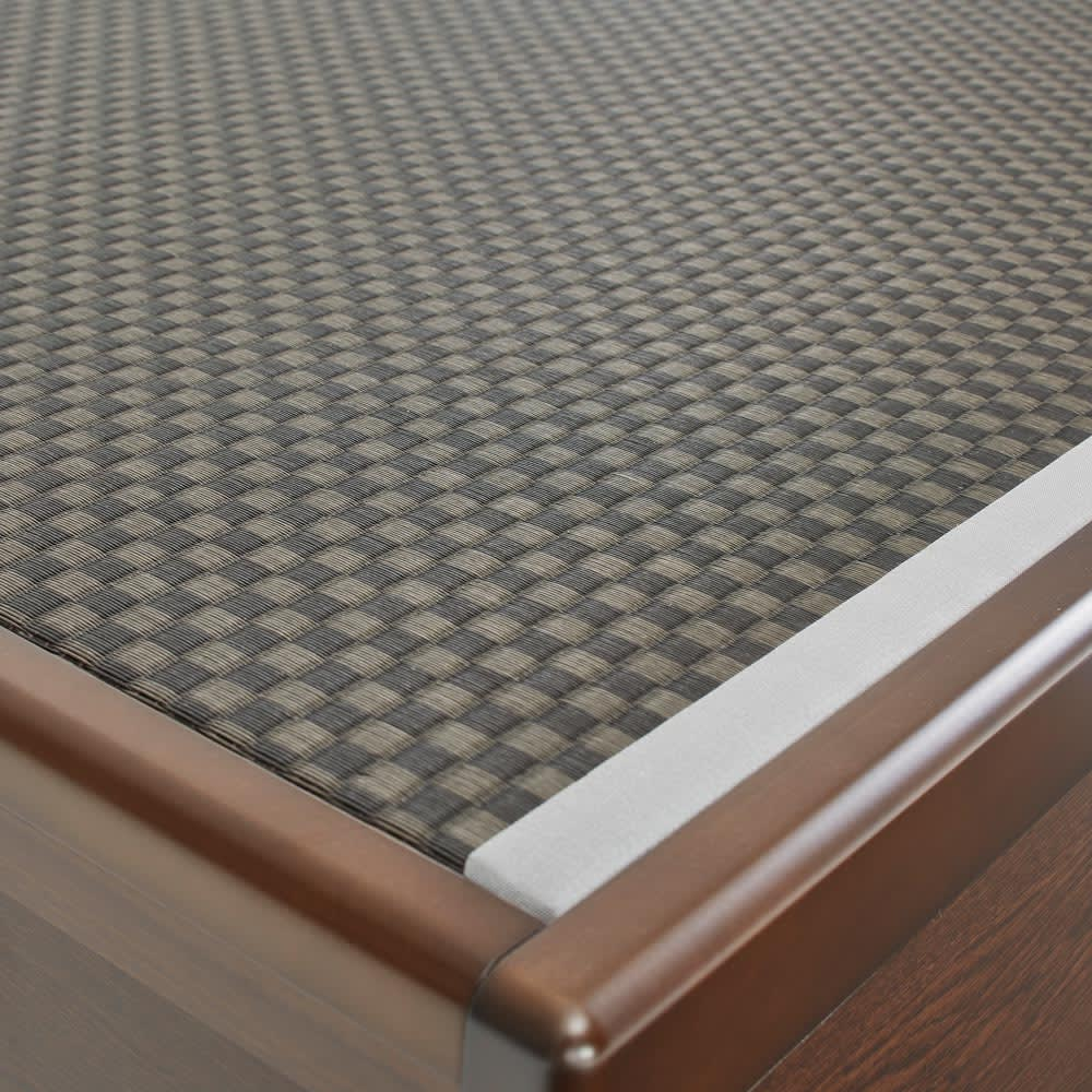 「美草」畳ガス圧収納ベッド ヘッドレスタイプ セミダブル 清潔感が続くセキスイ畳『美草』を使用しています