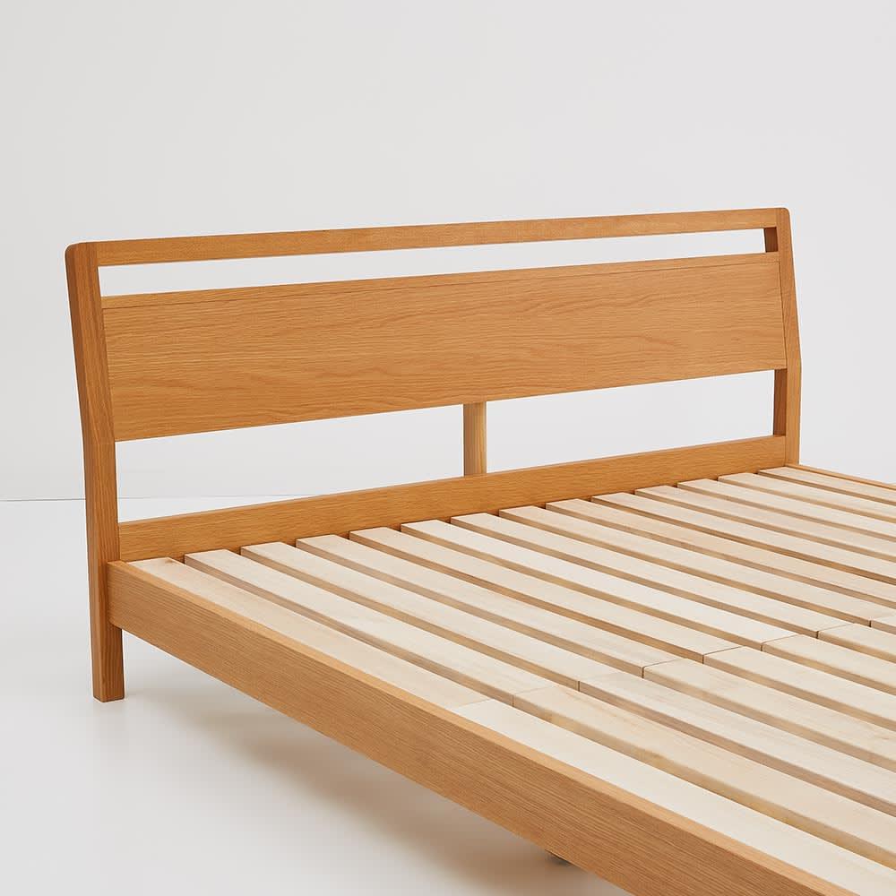 MARK/マーク 木製ベッド ホワイトオーク ユーロトップポケットコイルマットレス ヘッドボード