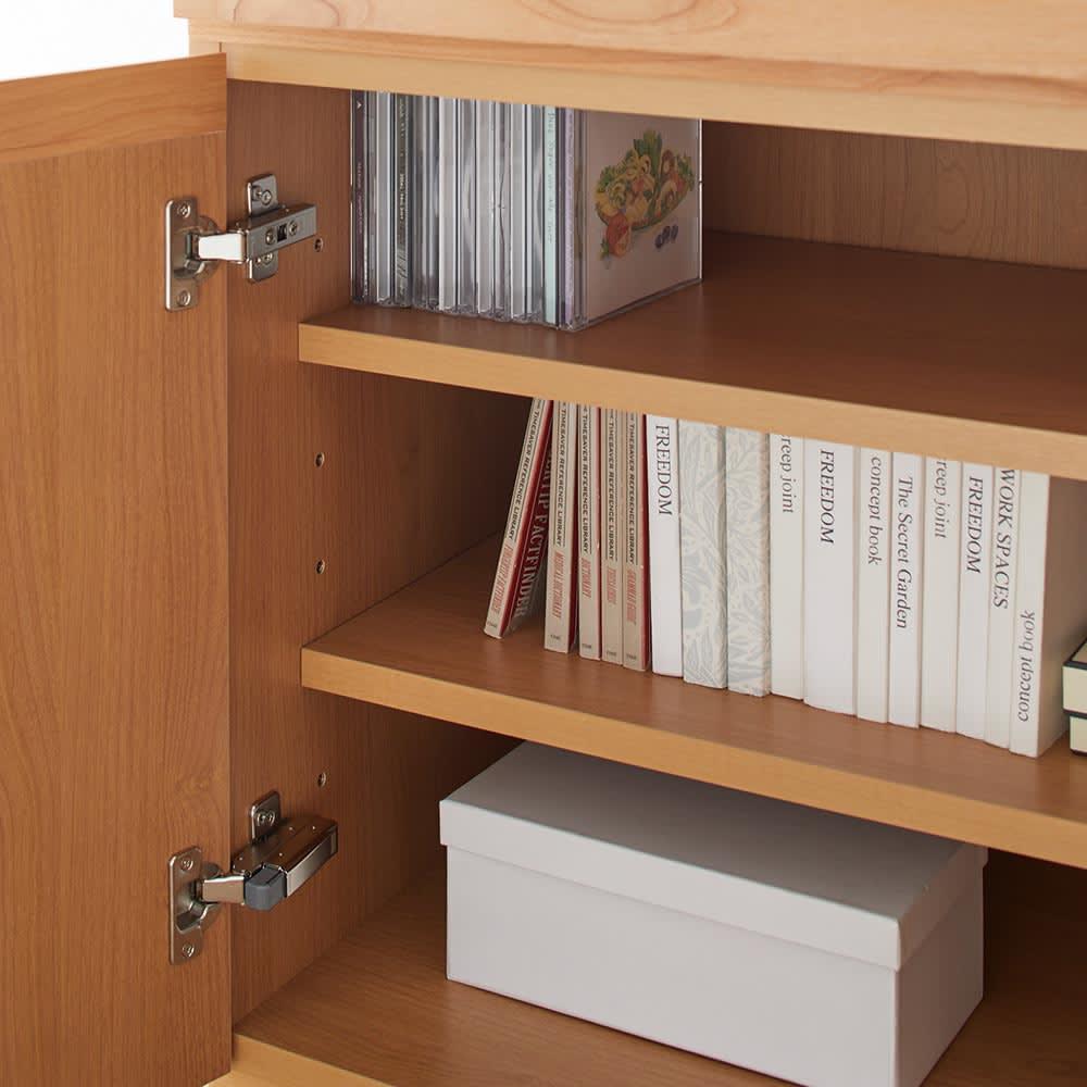 ASTER/アスター デスク収納シリーズ 60cmキャビネット+60cmチェスト キャビネット 収納棚部分 アップ