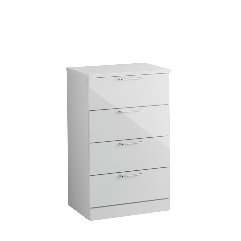 Muro/ムーロ ホワイトモダンチェスト 幅60cm 4段 お届けはこちらの商品です