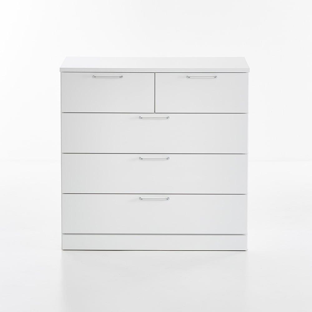 Muro/ムーロ ホワイトモダンチェスト 幅100cm 4段
