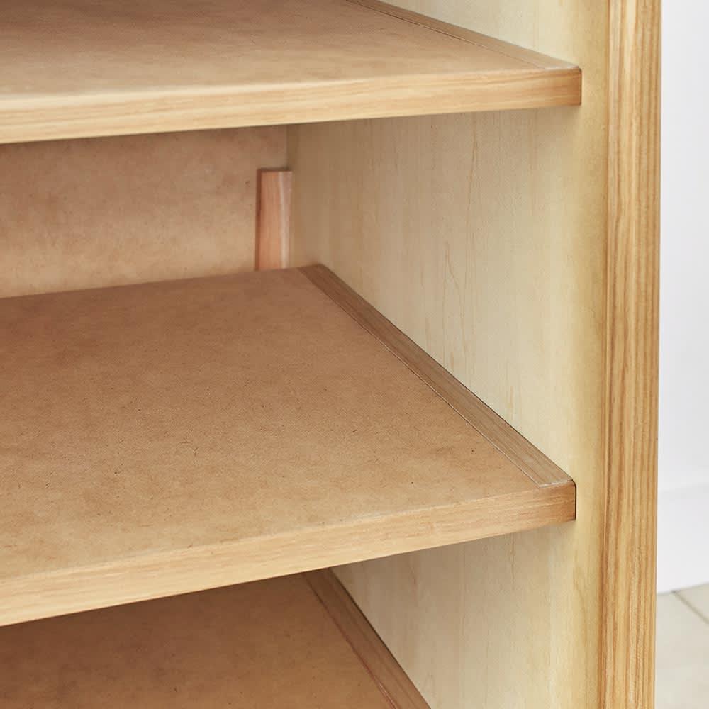 Calm/カーム 寝室コンパクトチェスト 幅70cm・5段(高さ84.5cm) 引き出しを外すと地板 付きで、衣類が引っか かりにくく強度もUP。
