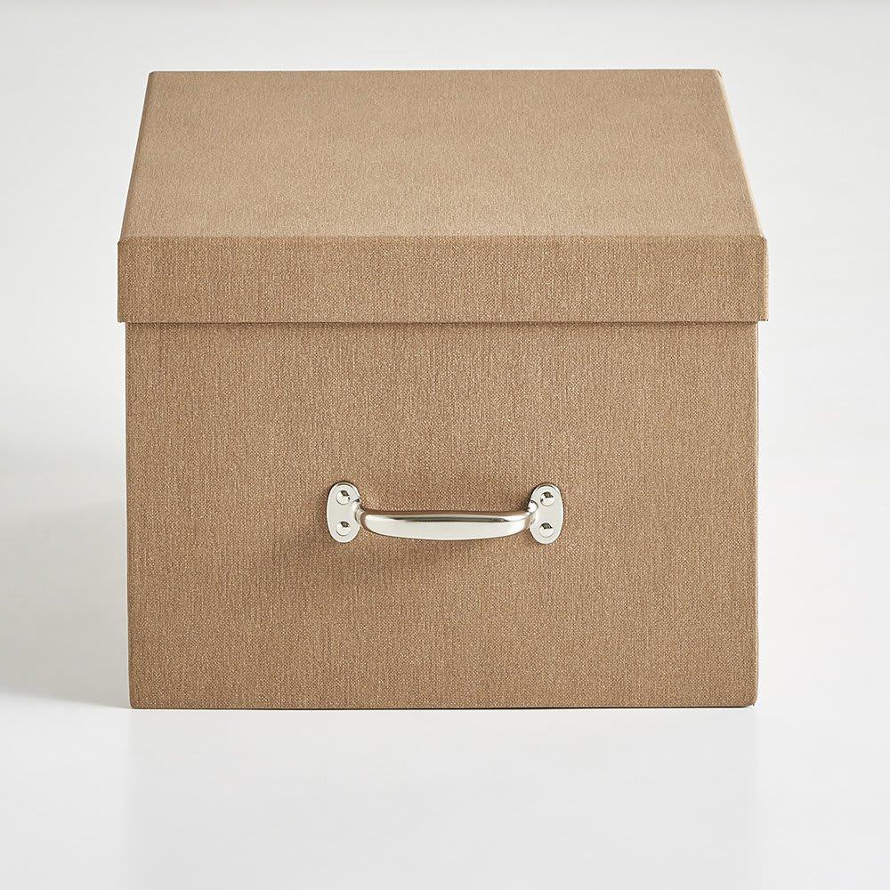 BIGSOBOX スウェーデン生まれの衣類収納ボックス TORE(2個組) (ア)ブラウン