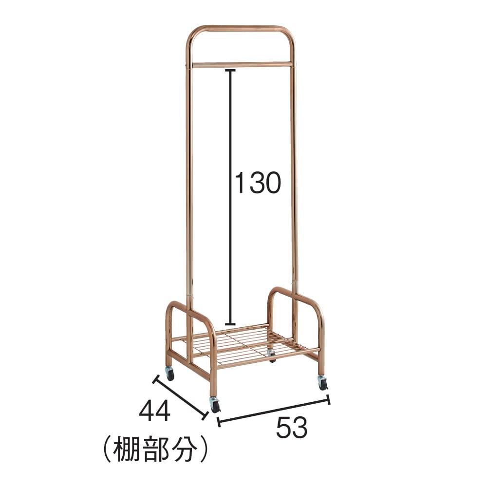 Erwin/エルヴィン ゴールドハンガー 幅61cm (棚部分) 内寸(cm)