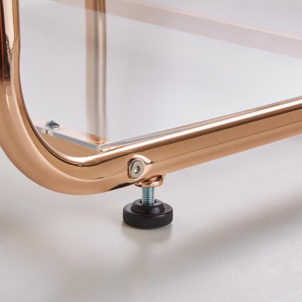 Erythe/エリュテ ピンクゴールドハンガー 幅80cm アジャスター付きでがたつきを抑えることができます。