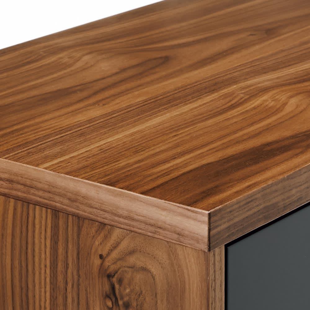 限定カラー Abbey wood/アビーウッド ブックケース 木目を活かしたウォルナット天然木の突板がシックな印象。