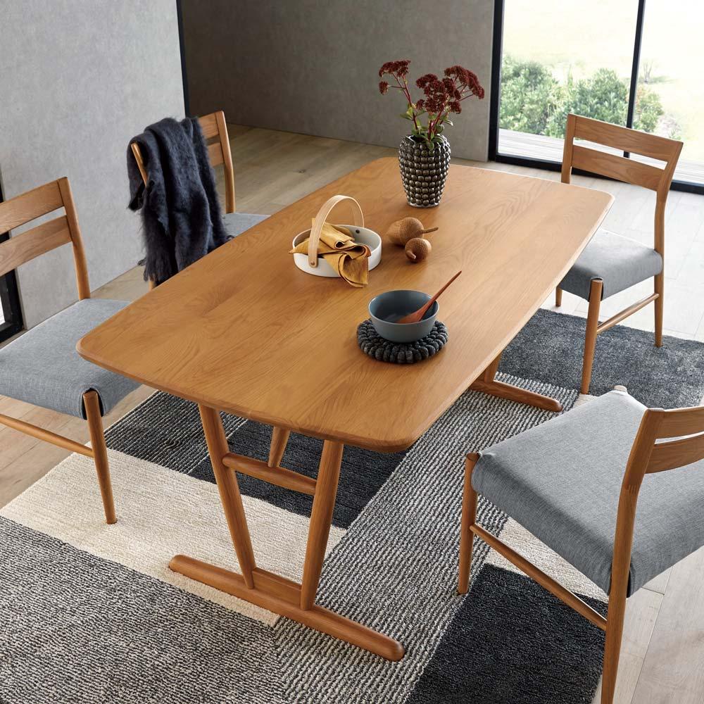 テーブル 幅150cm kolmio/コルミオ ダイニングシリーズ (ア)ナチュラル