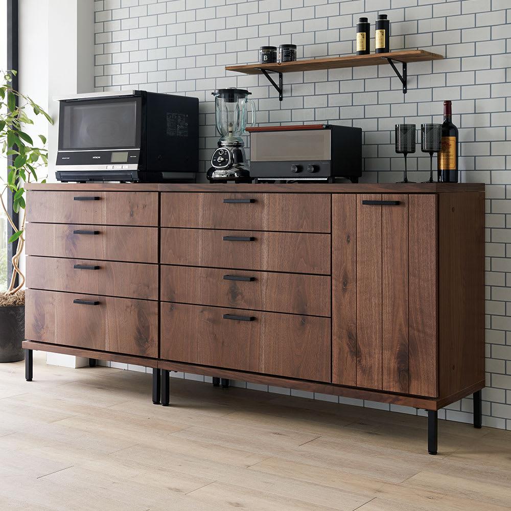 Bonno/ボノ キッチンカウンター 幅120cm (イ)ブラウン