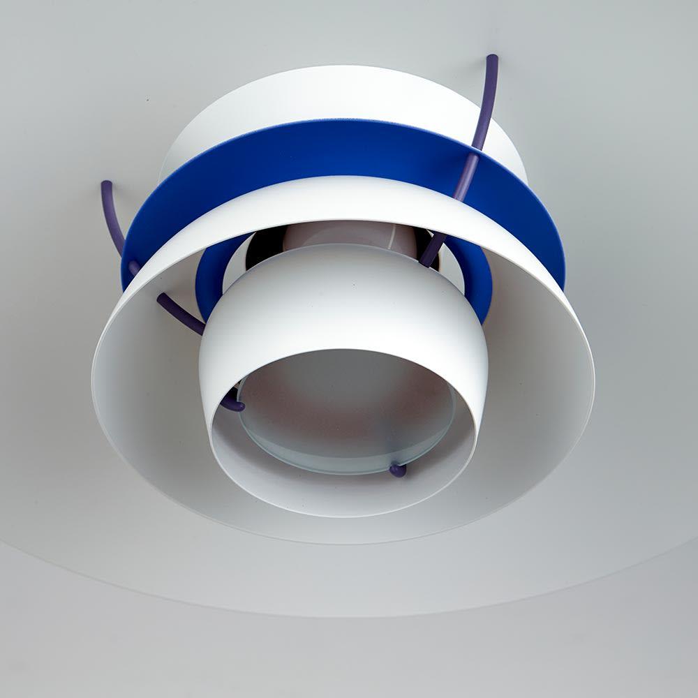 ペンダントライト PH5ミニ [Louis Poulsen・ルイスポールセン/デザイン:ポール・ヘニングセン] 一番下部分にはすりガラスの多い付きで、直接光が目に入らない仕様に。