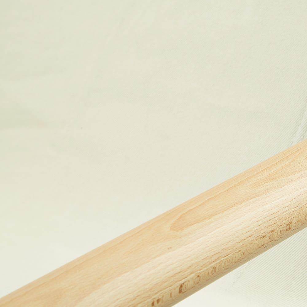 Nychair X Rocking ニーチェア エックス ロッキングチェア [Takeshi Nii/デザイン:新居猛] 張り地:ホワイト 肘掛けは天然木、張り地には丈夫さに定評のある倉敷帆布と、自然素材の温もりあるコンビネーション。