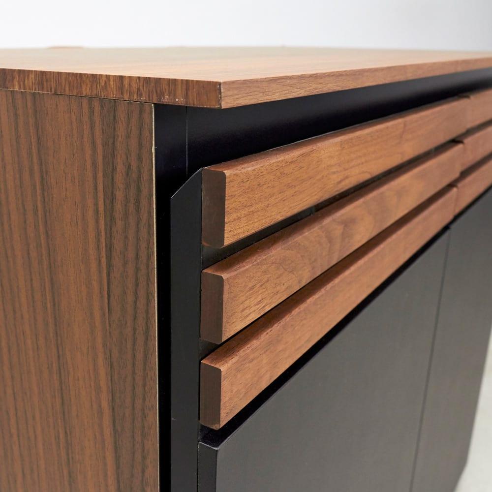 AlusStyle/アルススタイル リビングシリーズ ハイタイプテレビ台 幅80.5cm 高級感あるウォルナット天然木の格子デザイン