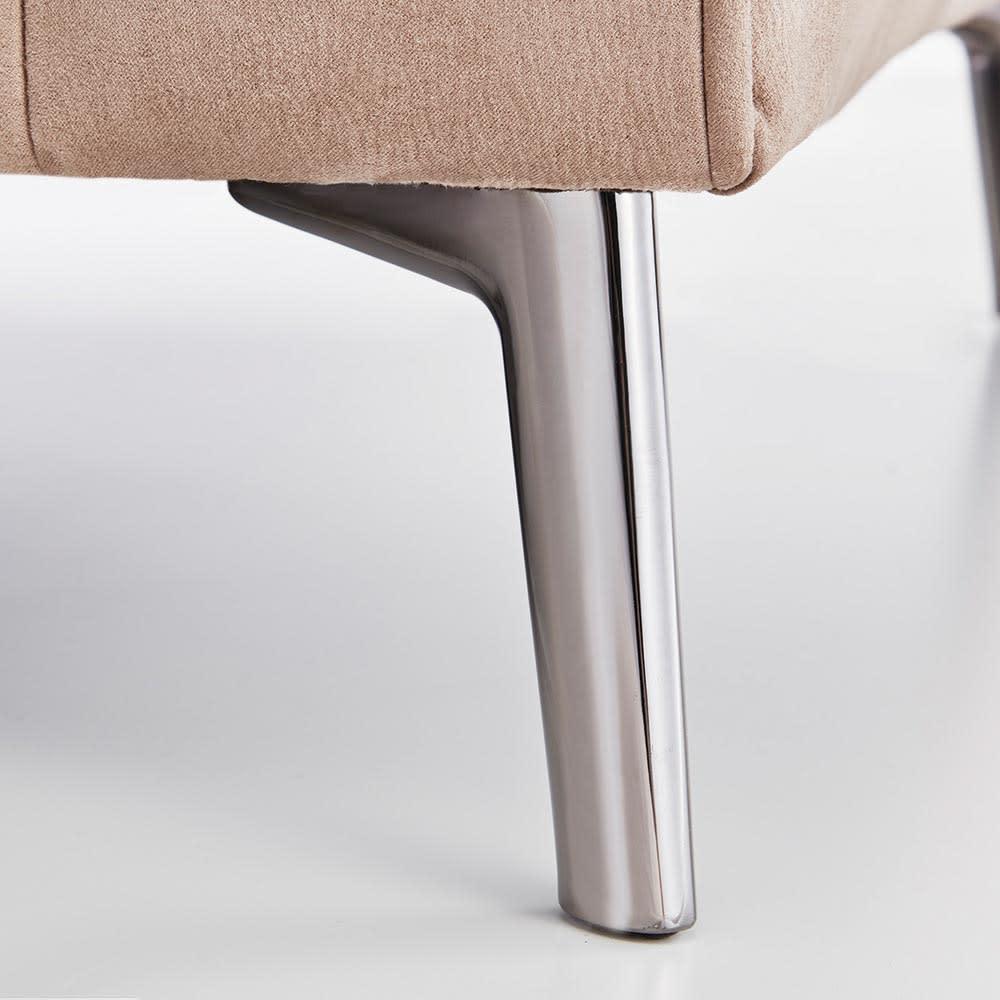 Demetrar/デメトラーレザー調ソファ 1人掛け 幅84cm 脚には光沢のあるスチール脚を使用