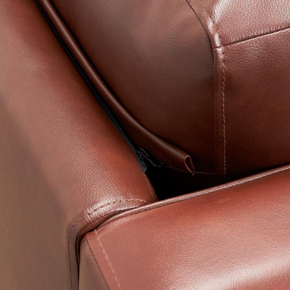 Cammello/キャメロ 革張りソファ コーナーカウチ 背クッションはファスナーで脱着ができます。