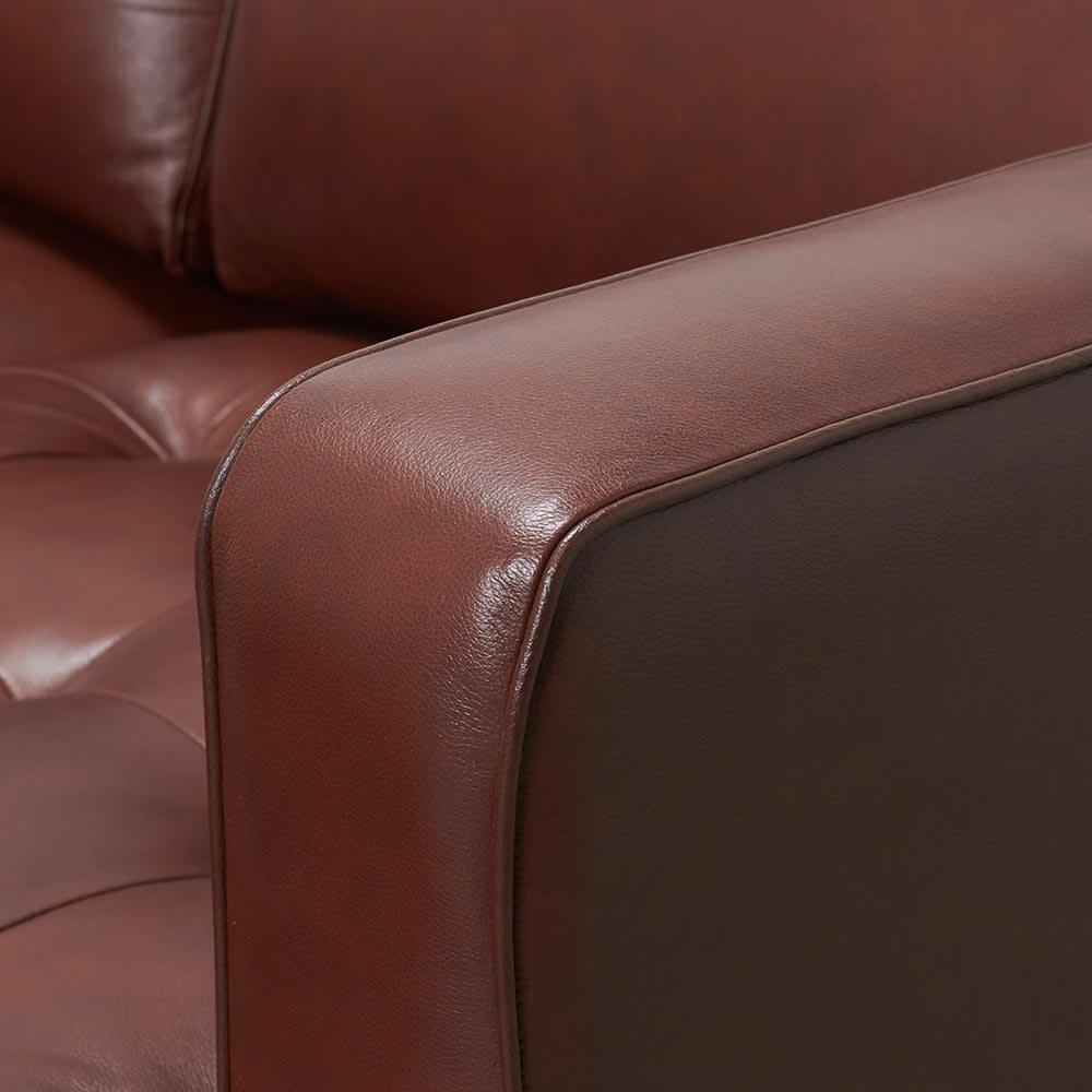 Cammello/キャメロ 革張りソファ コーナーカウチ 肘部アップ